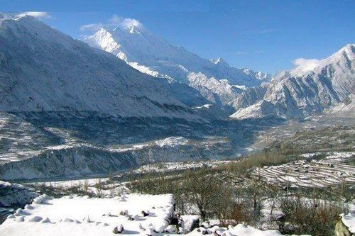 hunza-valley-snowfall